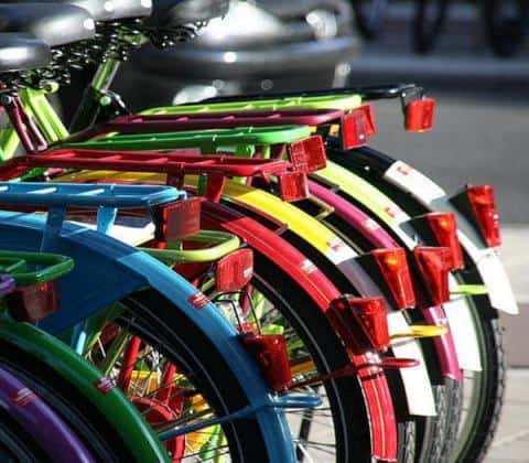 Amsterdam Bike Tour - Colorful Bikes