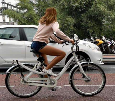 Amsterdam Bike Tour - Girl on Bicycle