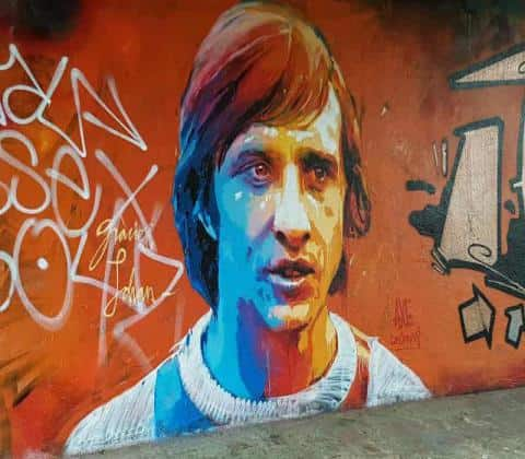 Amsterdam Bike Tour - Johan Cruijff Graffity